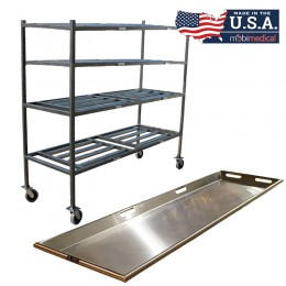 """4 Tier Side Load Roller Rack with 27"""" Trays"""