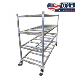 MOBI Stainless Steel End Load Mortuary Roller Rack