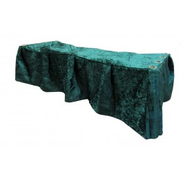 Crushed Velvet Green Church Truck Drape - Frameless