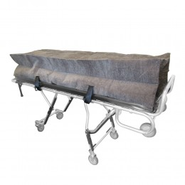 Oversized Gray Cot Pouch w/ Zipper