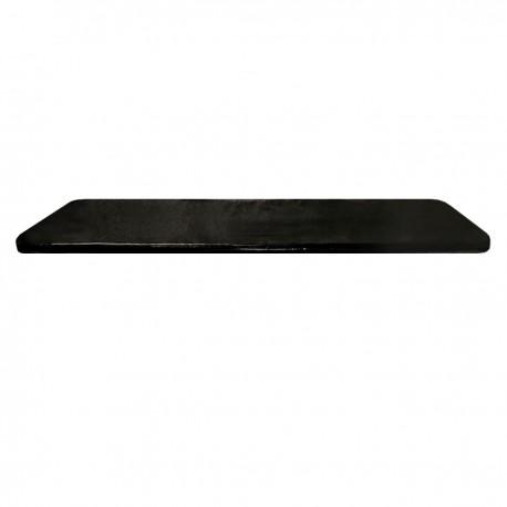 "1"" Universal Mortuary Black Mattress Pad"