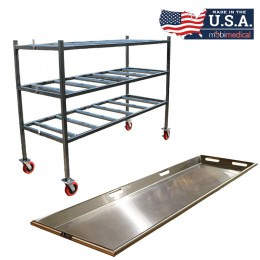 2 Tier End Load Roller Rack with Trays